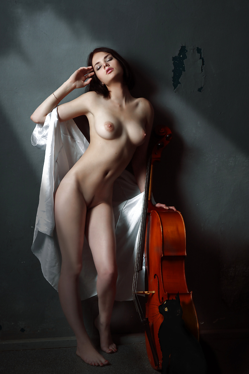 Nude female violin player photograph by guy viner