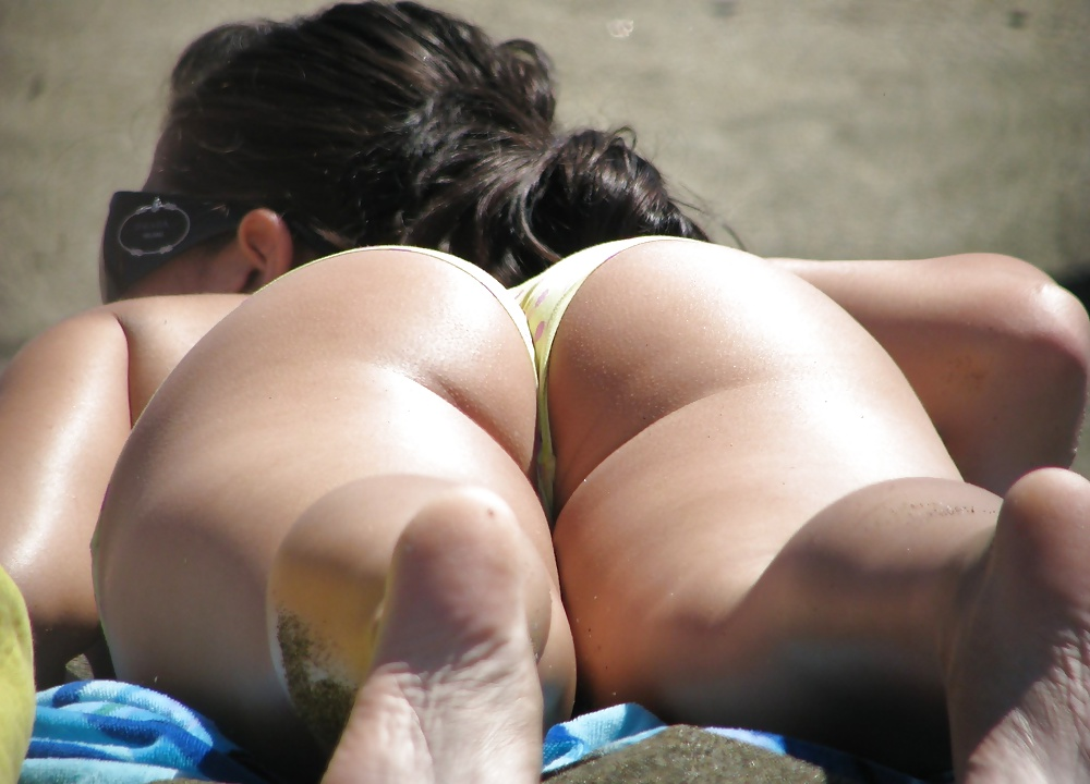 Big booty candid thong beach voyeur