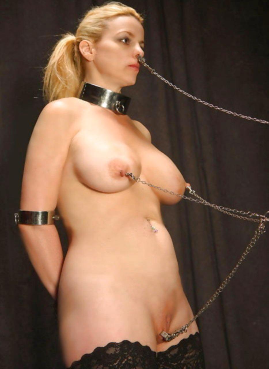 Bondage nipple ring