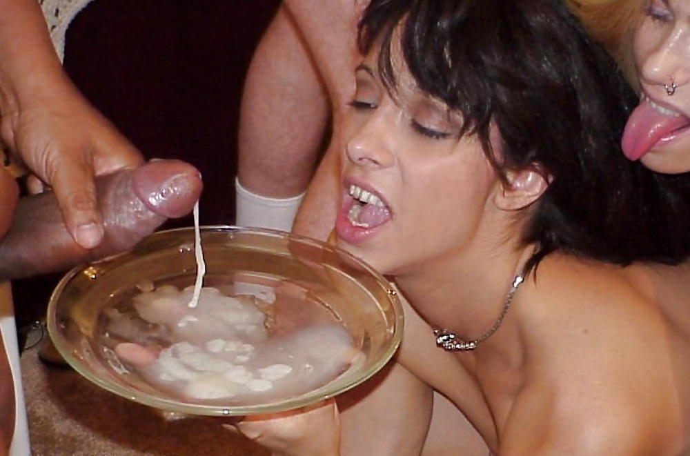 Old Milf Drinking Cum