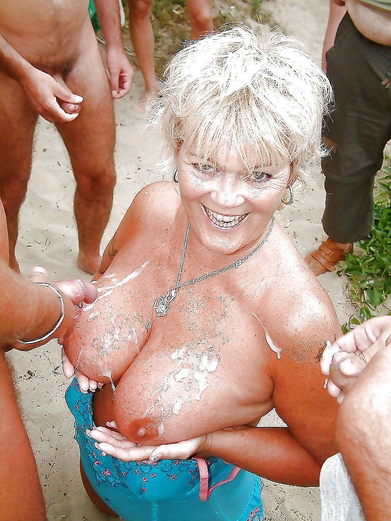 Jerking off next to grandma in law