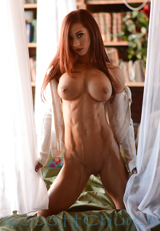 Shayla in fit redhead with perfect pussy