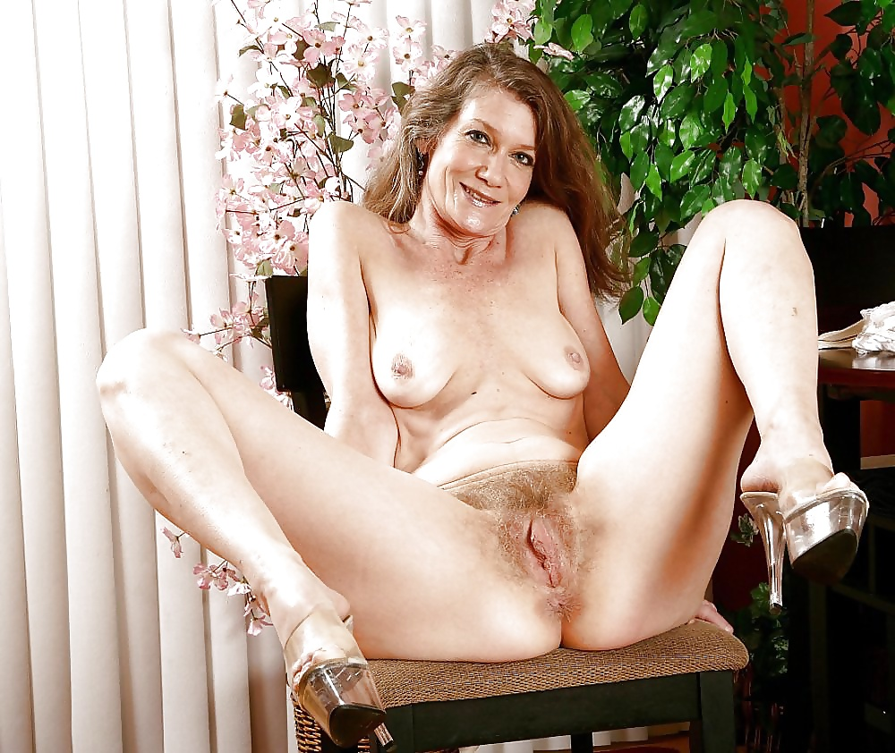 Mature women with hairy bush