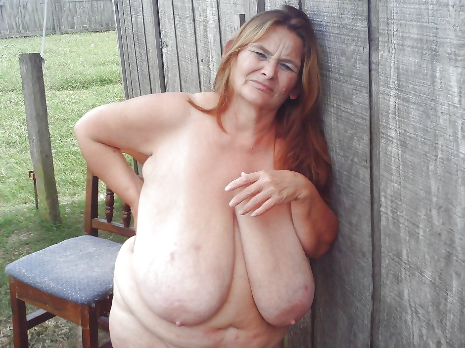 Granny saggy tits with stretch marks