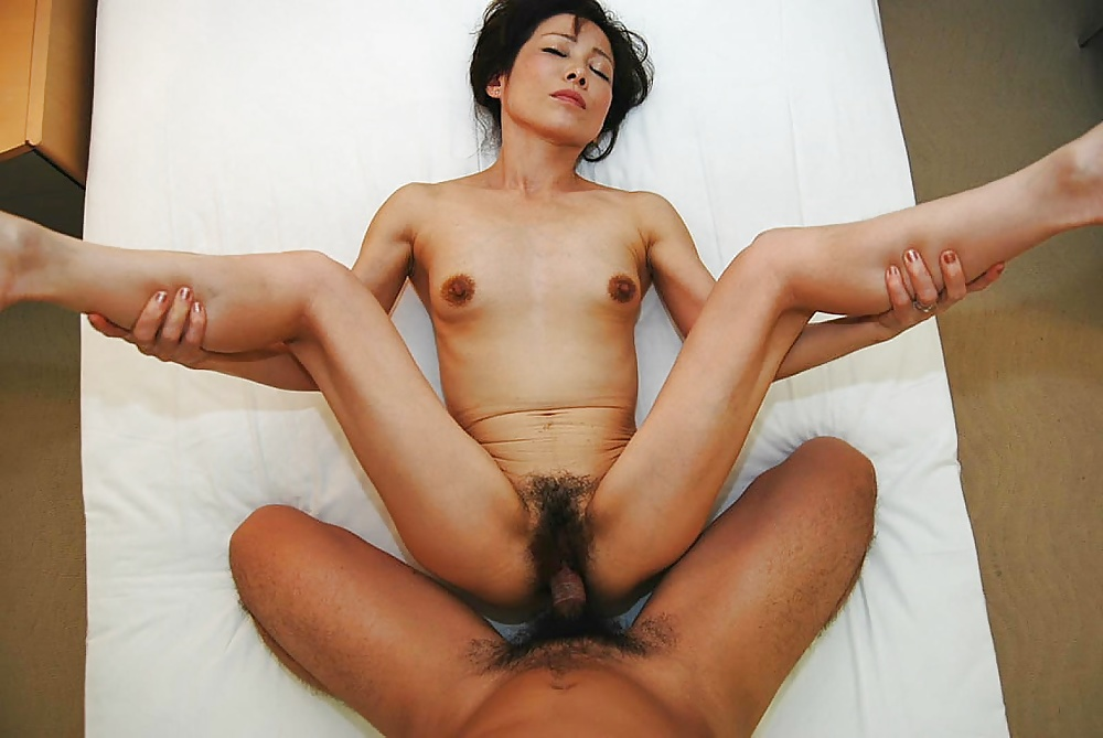 Hairy Asian Milf Fucked By Big Black Cock