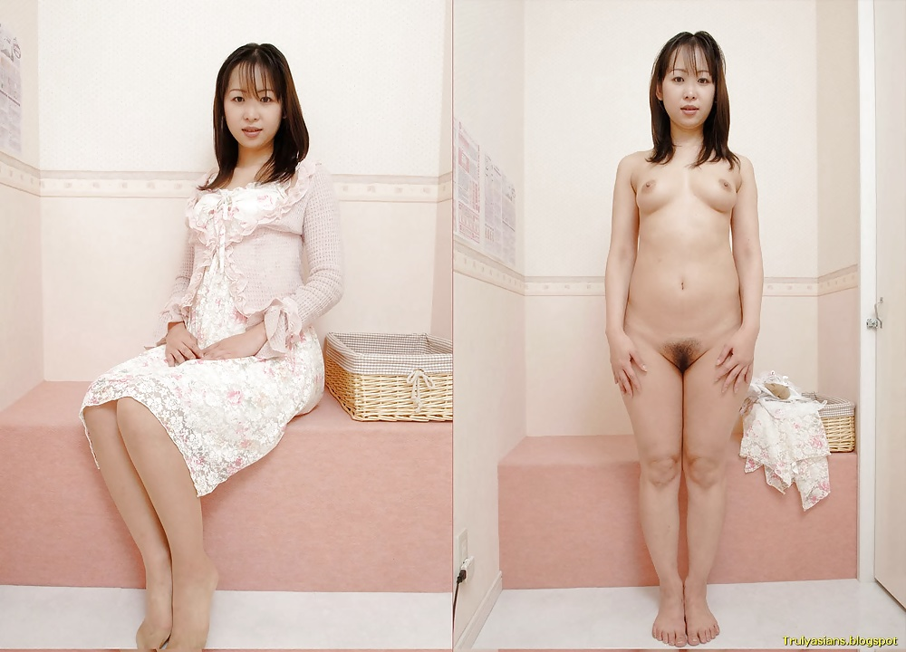 Asian nude undressing