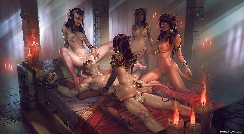 Dominatrix erotic fantasy women art