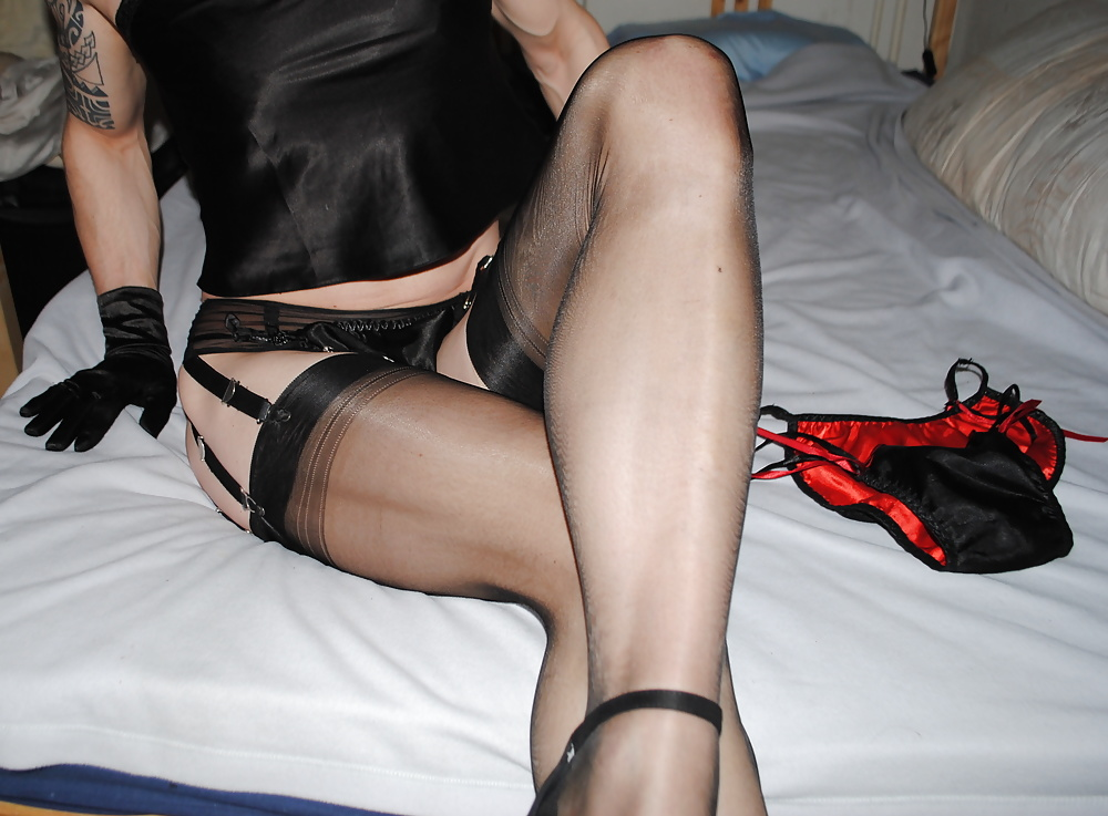 Retro lingerie and nylons strip