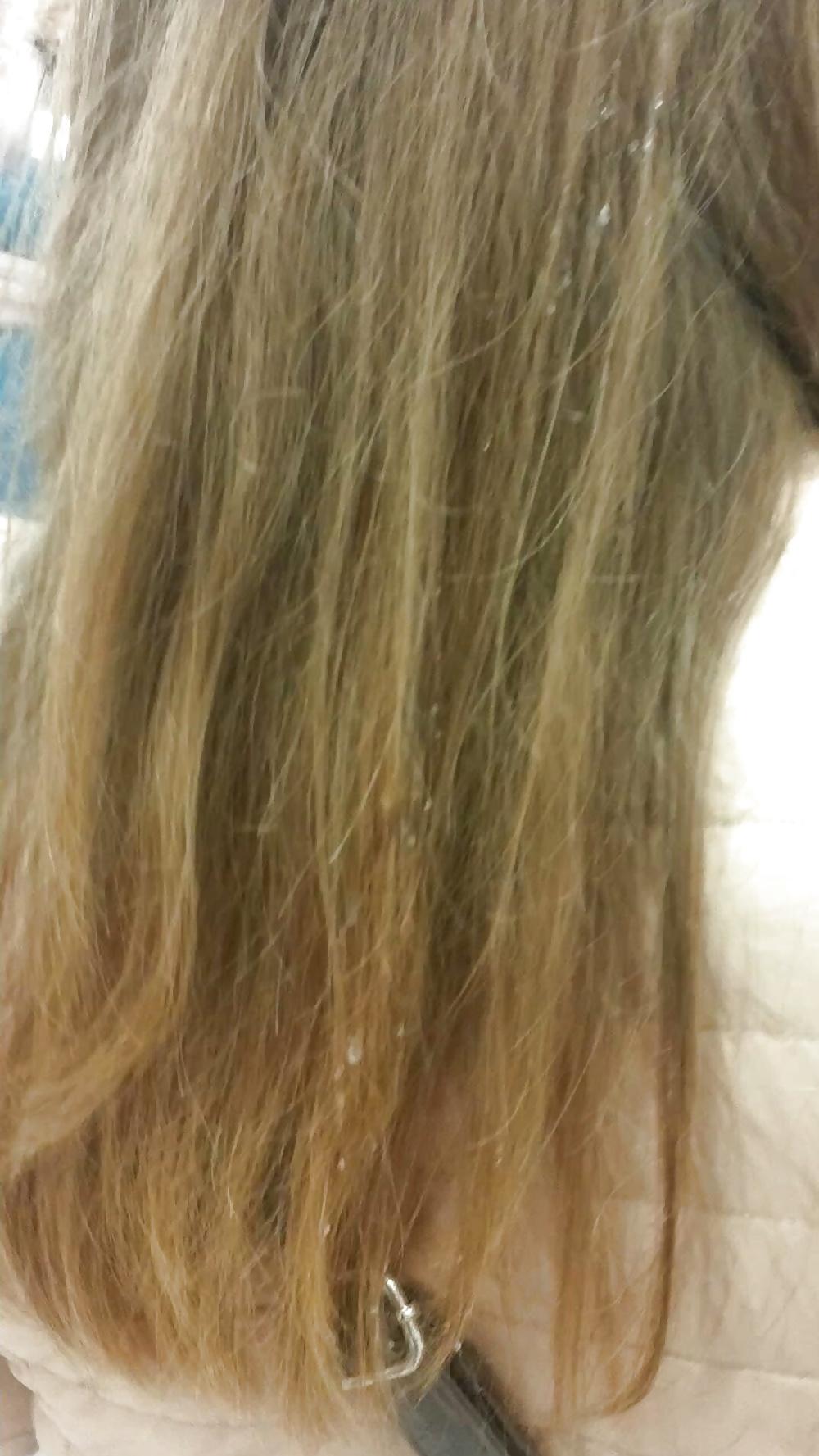 In hair cum Hair cumshot