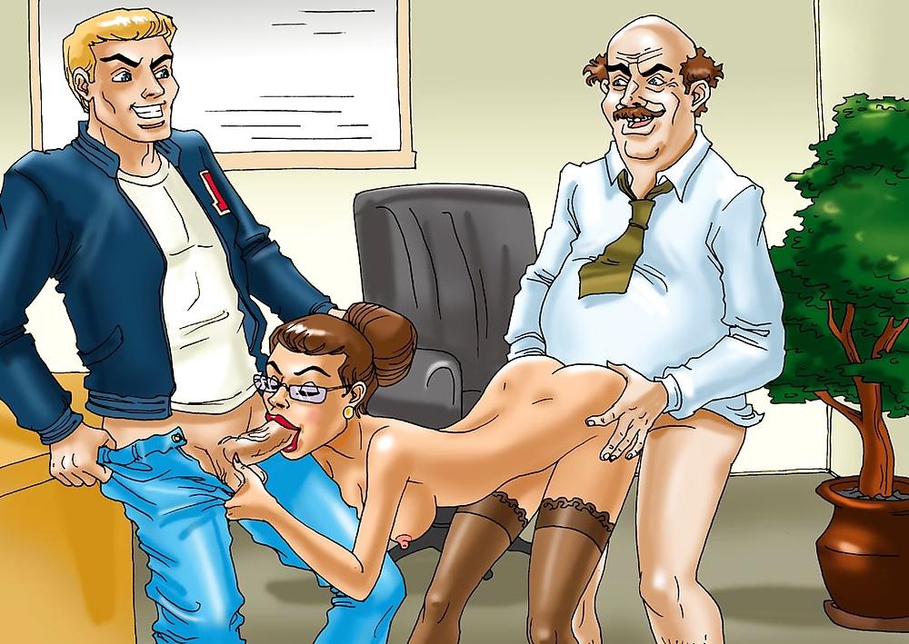 Teacher cartoon adult