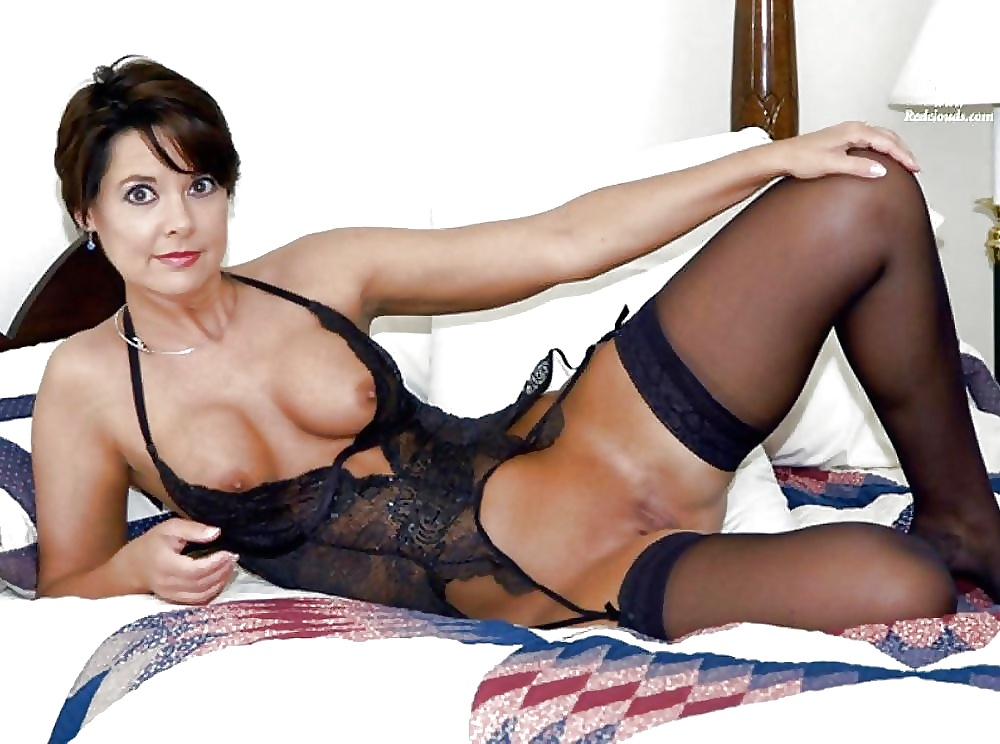 Busty Brunette Milf Teases Her Husband With Sexy Lingerie