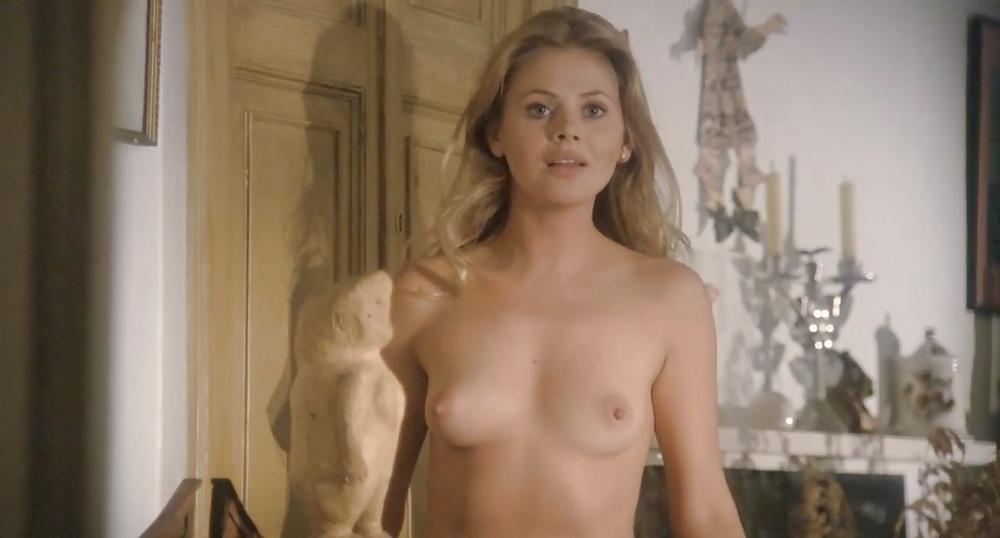 Actress britt eckland and jurgen goslar in a scene