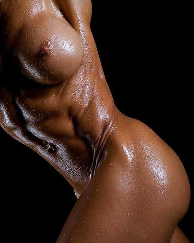 Dark skin black girl naked