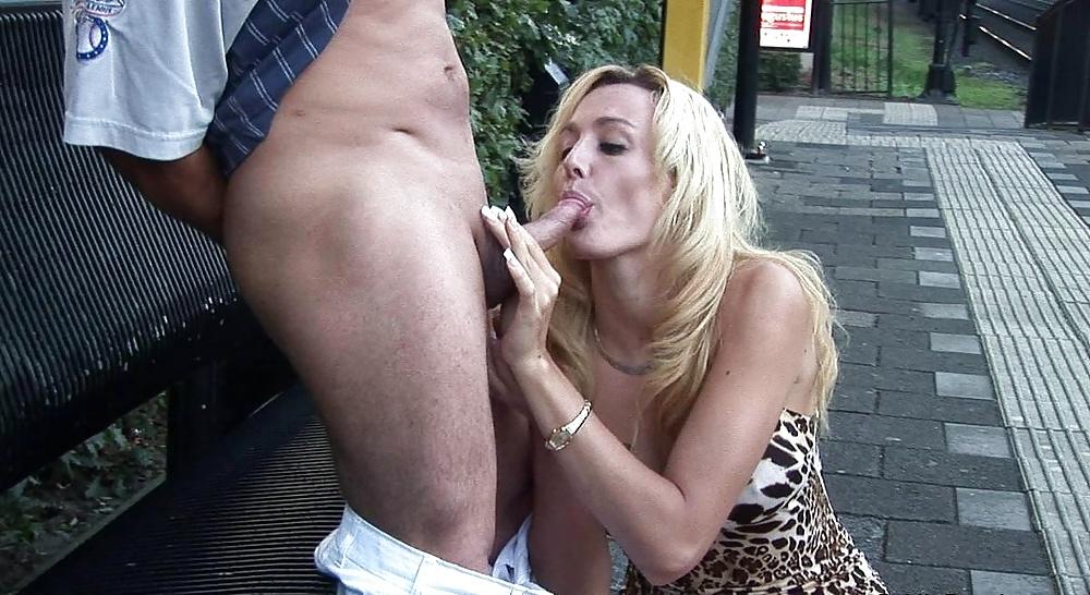 Son fucks mother in public