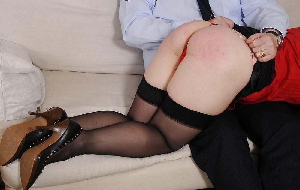Stockings british mature spanked and drilled