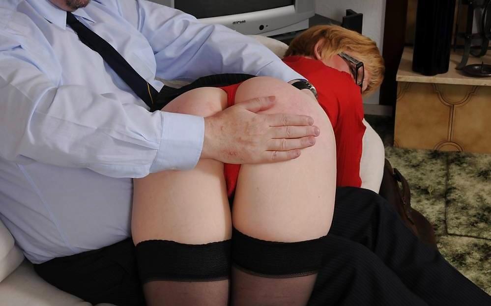 Amateur shy lass spank