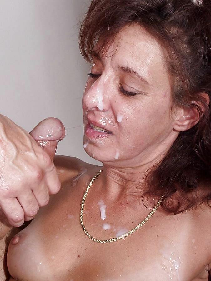 Mature Granny Cum Mouth