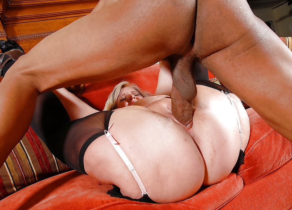Busty Granny Riding Black Dick