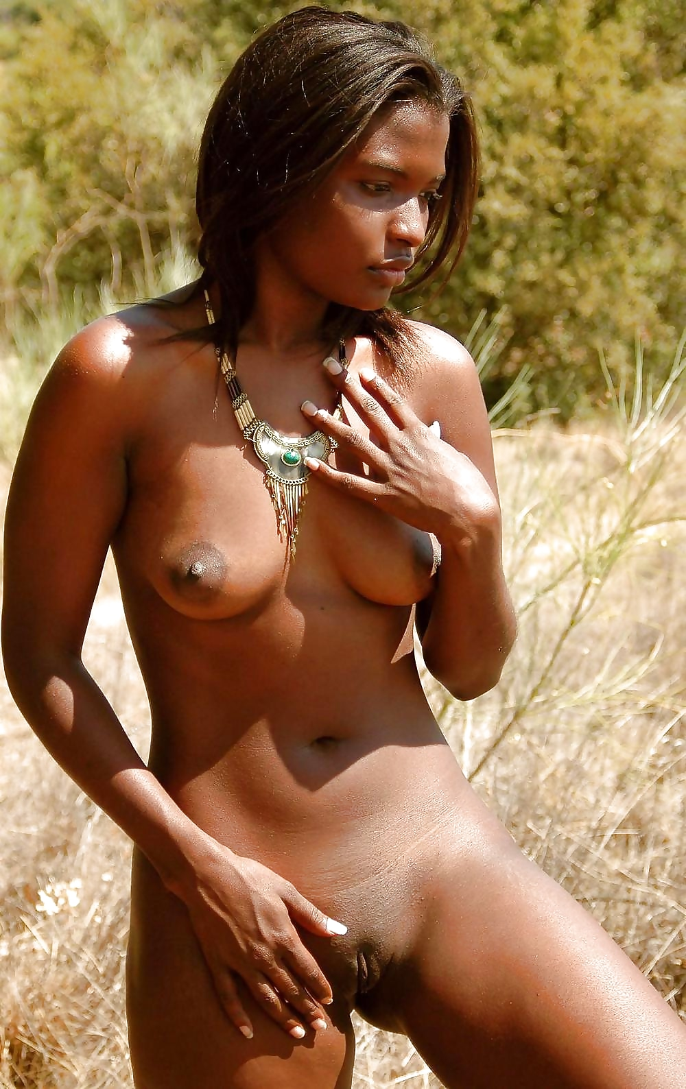 Real african tribal black boobs outdoors nude girls pictures