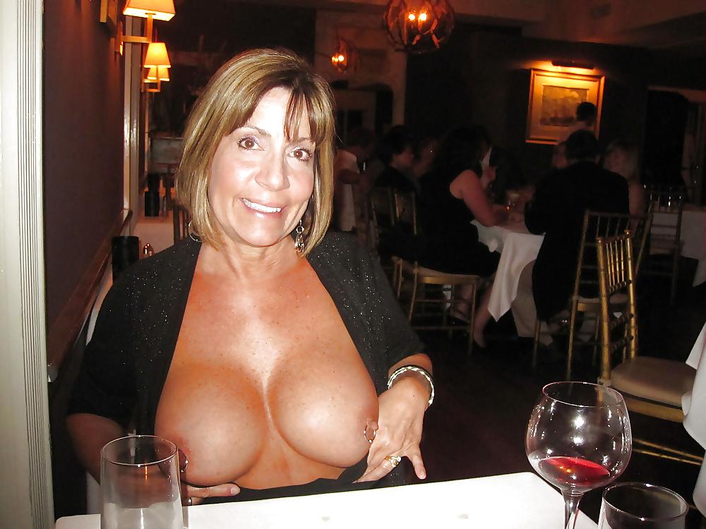 Mature women cleavage stock photos