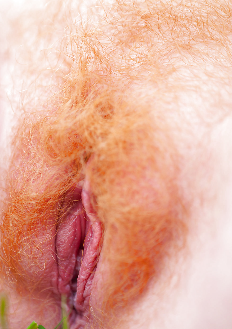 Red hair up close pussy