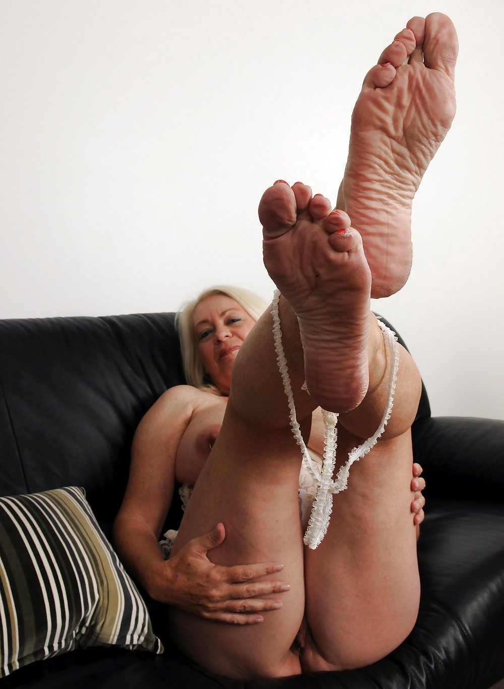 Sexy oiled up wrinkled soles