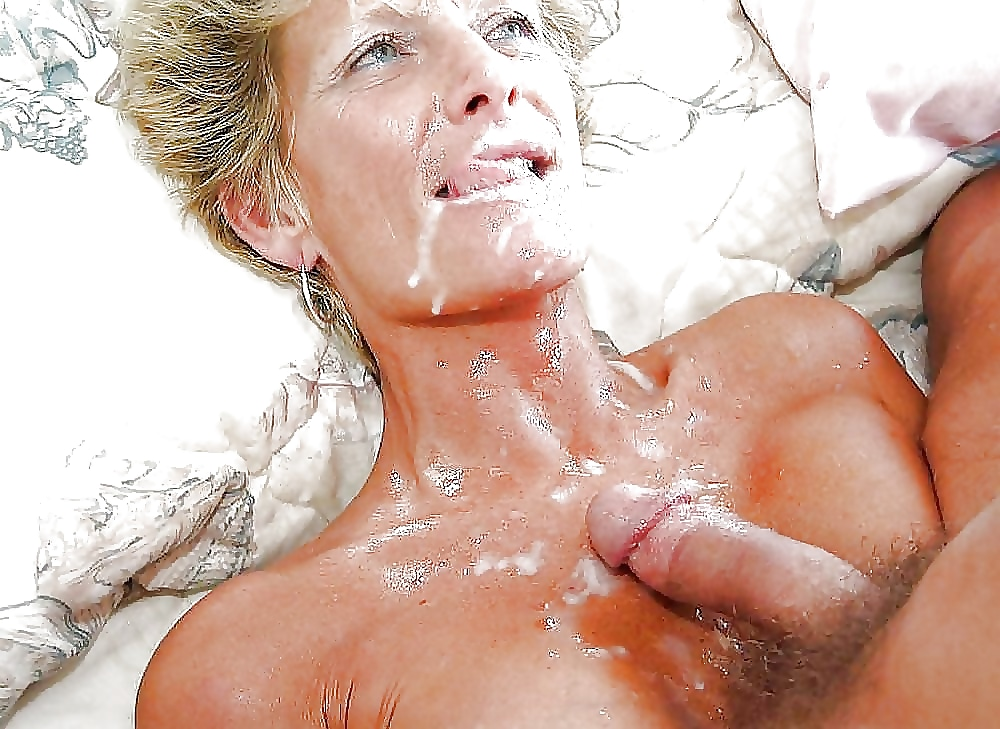 Blonde milf eva notty showing all that sperm in her mouth