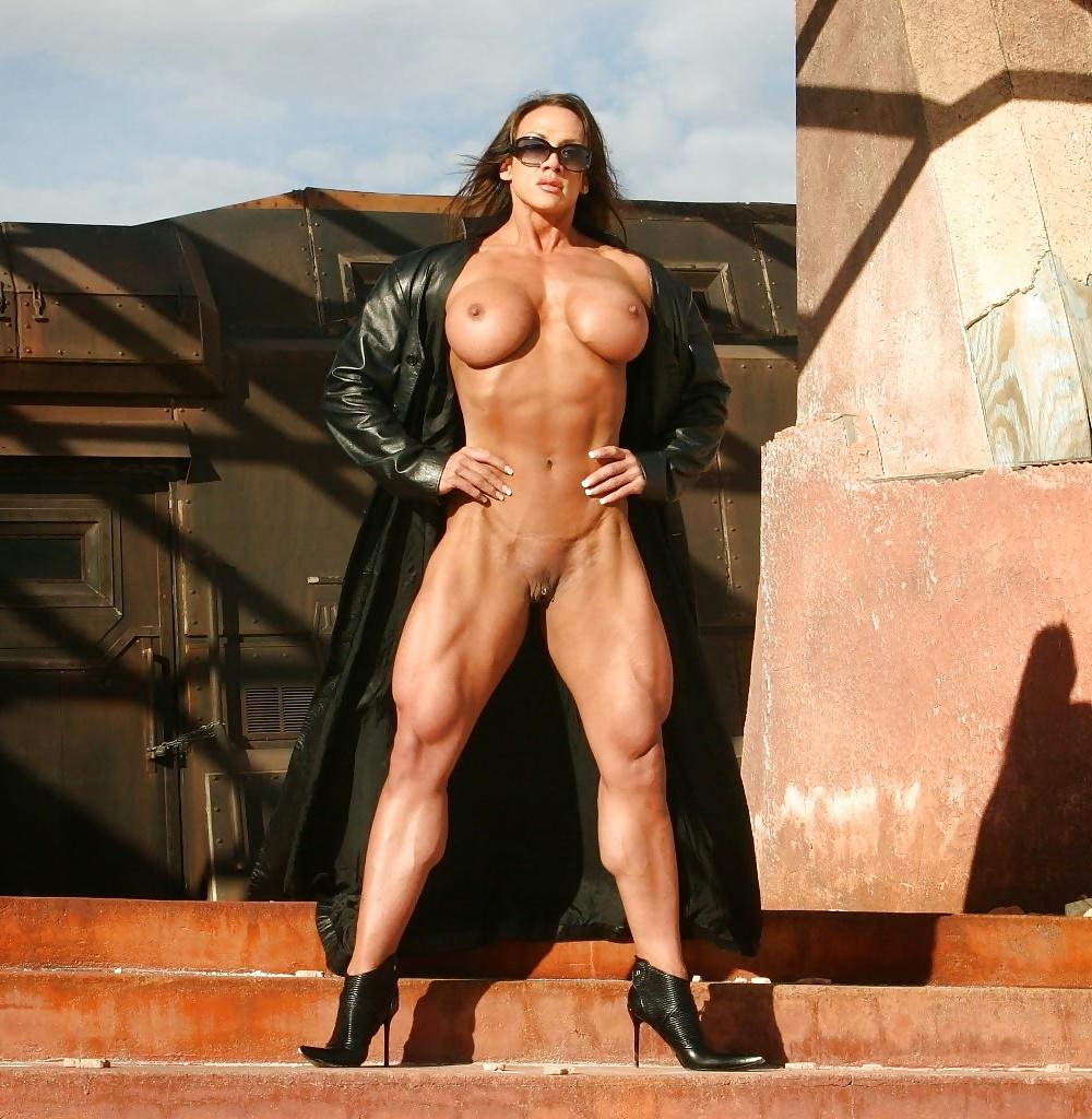 Beautiful Fitness Goddess April Hunter Posing Topless