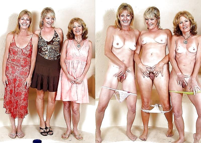 сессии зрелых дам в одежде и голых - 9