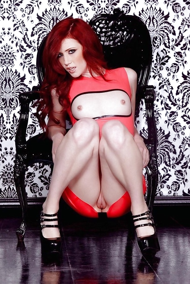 Hot red head nude skirt 13