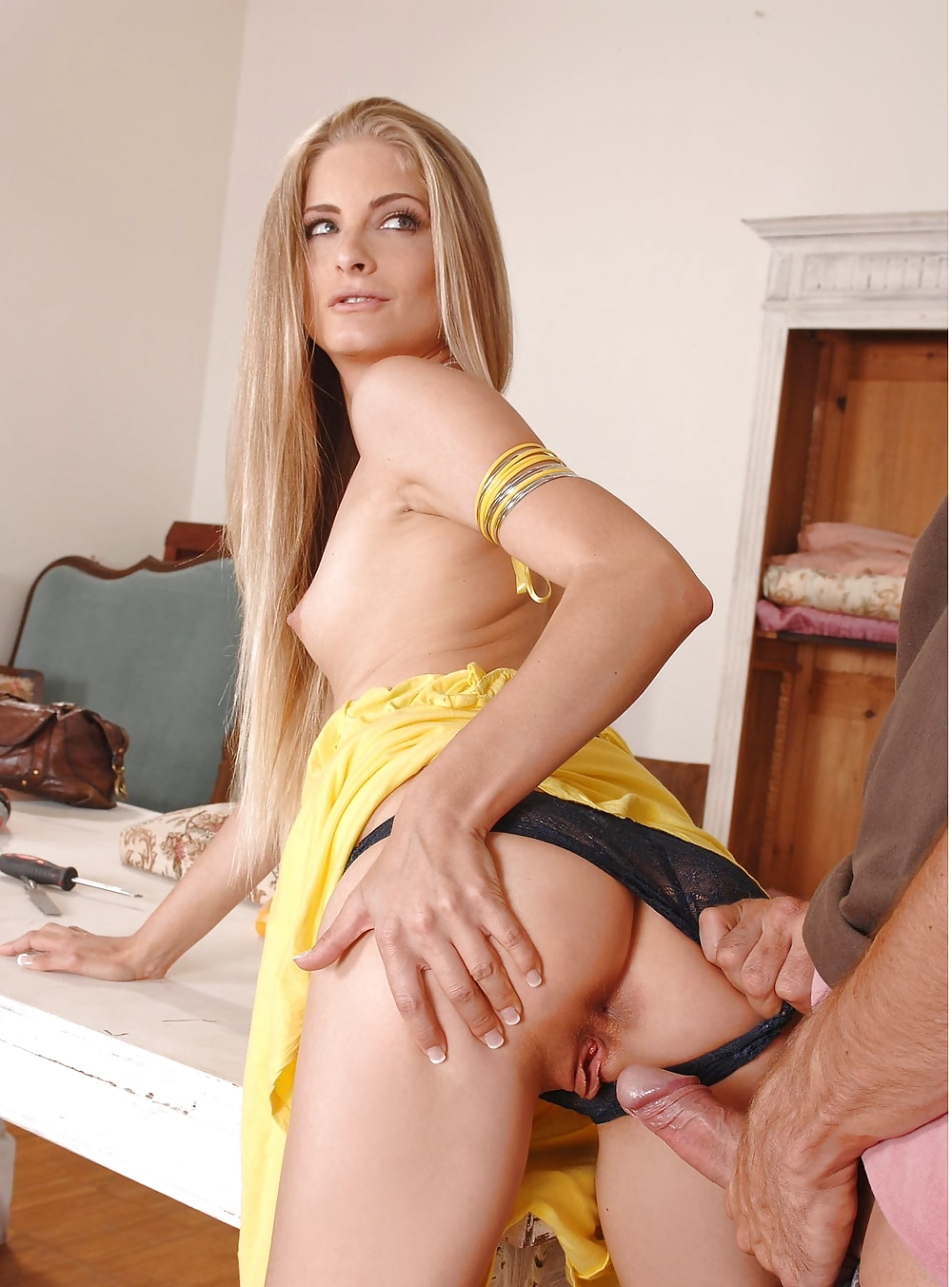 Miosotis In Tight Yellow Dress Gets Fucked The Boobs Blog
