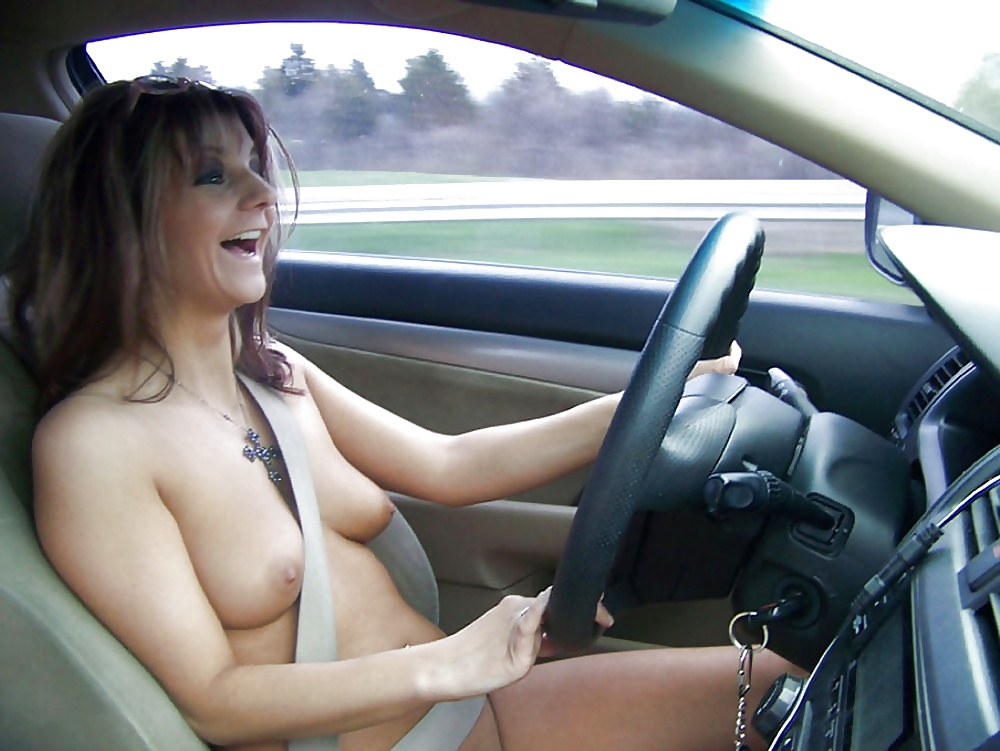 Naked Shy Wife Nude In Car
