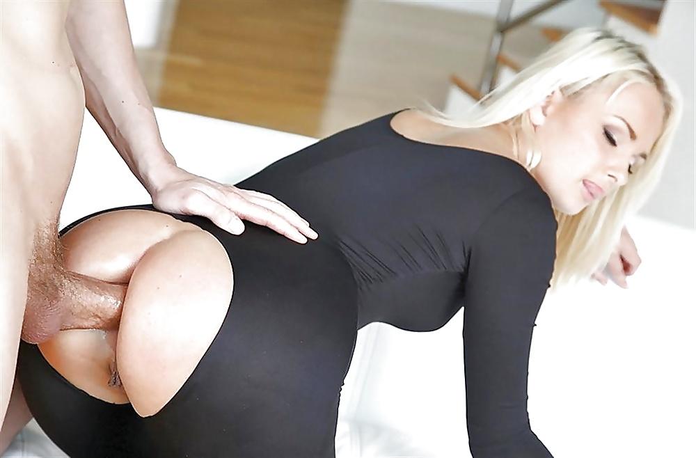 Sexy blonde tight dress