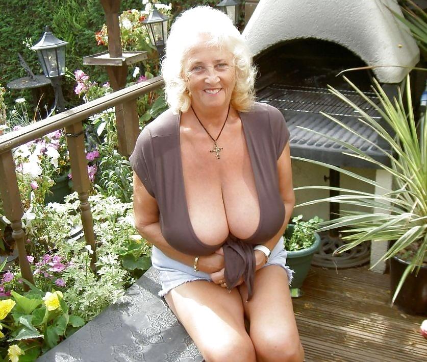 Fun Old Granny Huge Tits