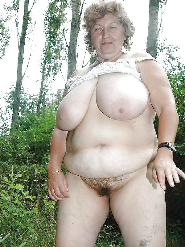 Old fat grannies posing nude