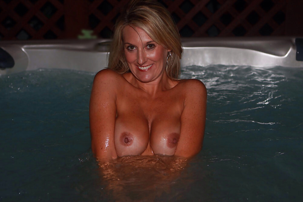 My wife naked hot tub