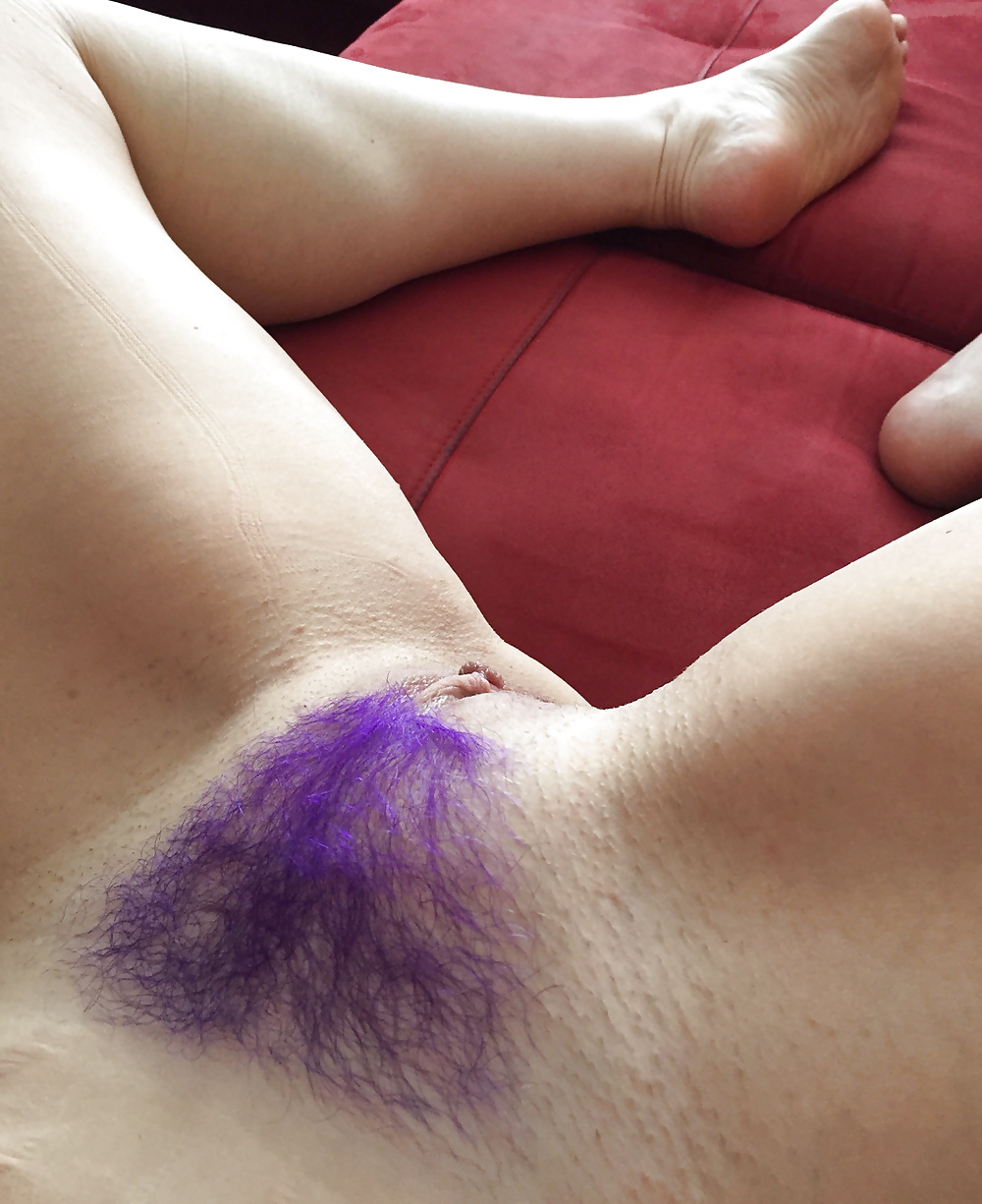 Lucy with a red triangle of pubic hairy porn