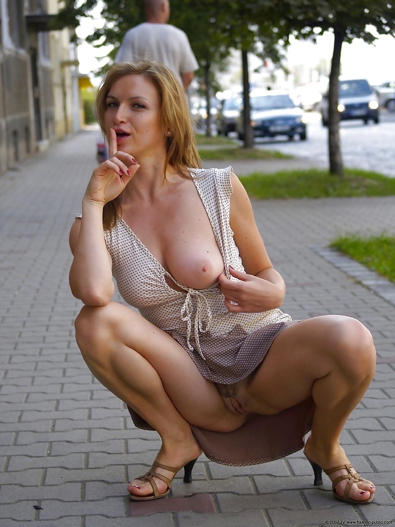 Hot Mature Wife Goes Naked In Public