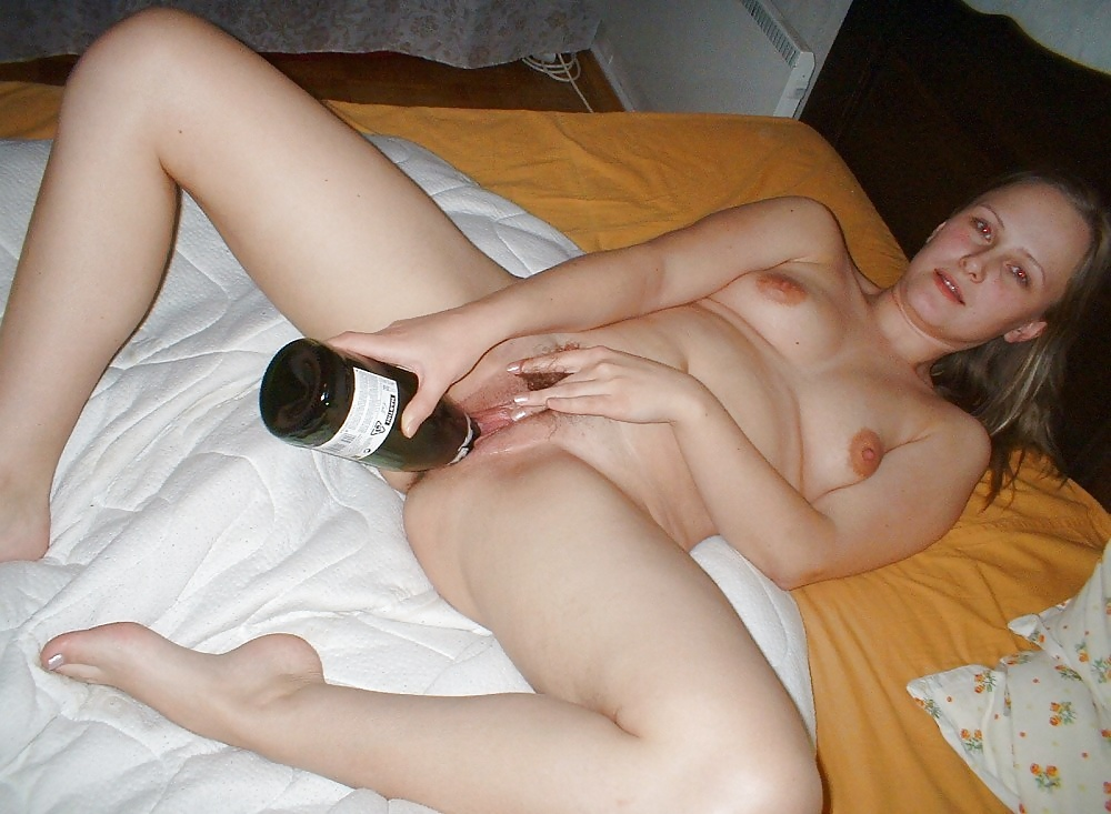 Beer bottle pussy party