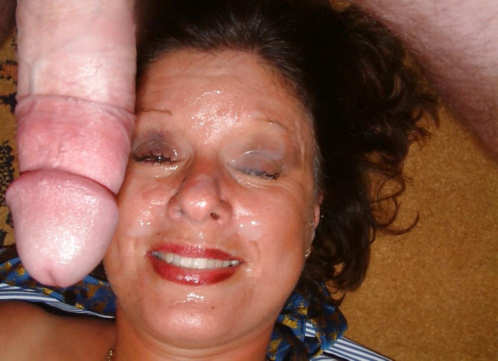 Hot mature interracial slut gets a facial porn galeries