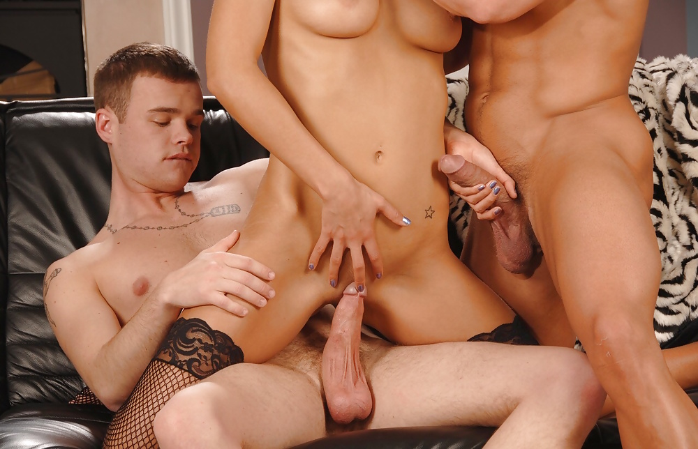 Blonde has to eat ass in an mmf porn photo online