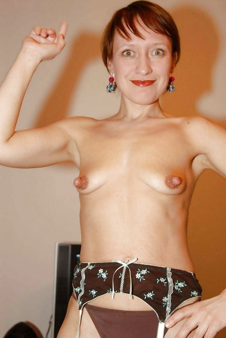 Flat chested nude women