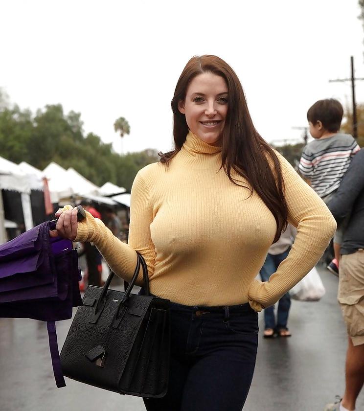 Big breast in public