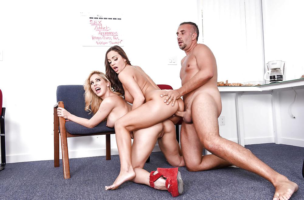Brazzers Network Cherie Deville Abigail Mac Polisi Doggy Vista Sex HD Pics