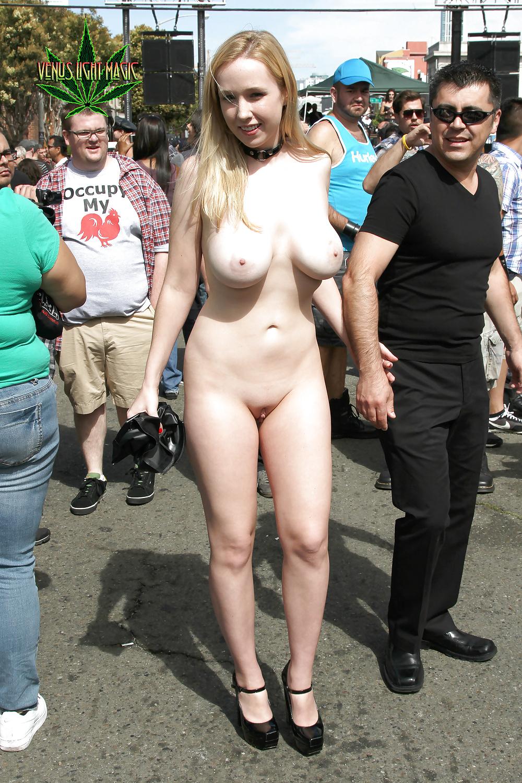 Flashing tits in public photos