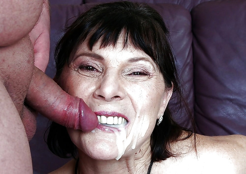 Very old granny swallows cum pics