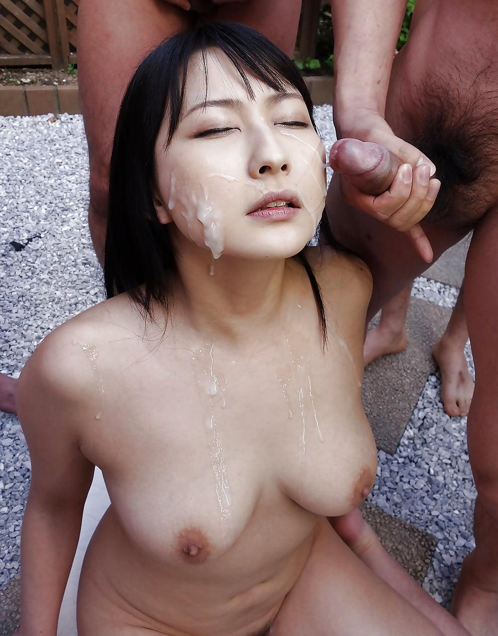 Live bukkake tv show starring various japanese girls bukkake facials