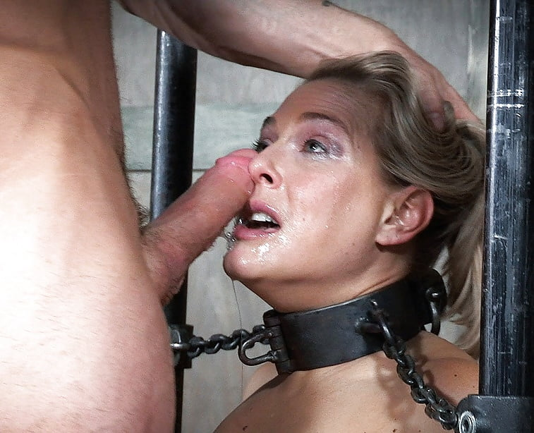 Gagged Bitch Serves And Whipped Her Master