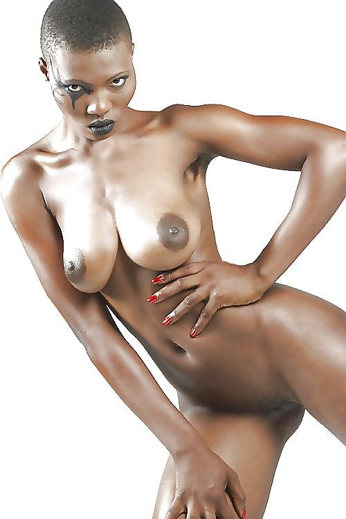 Black woman with big boob