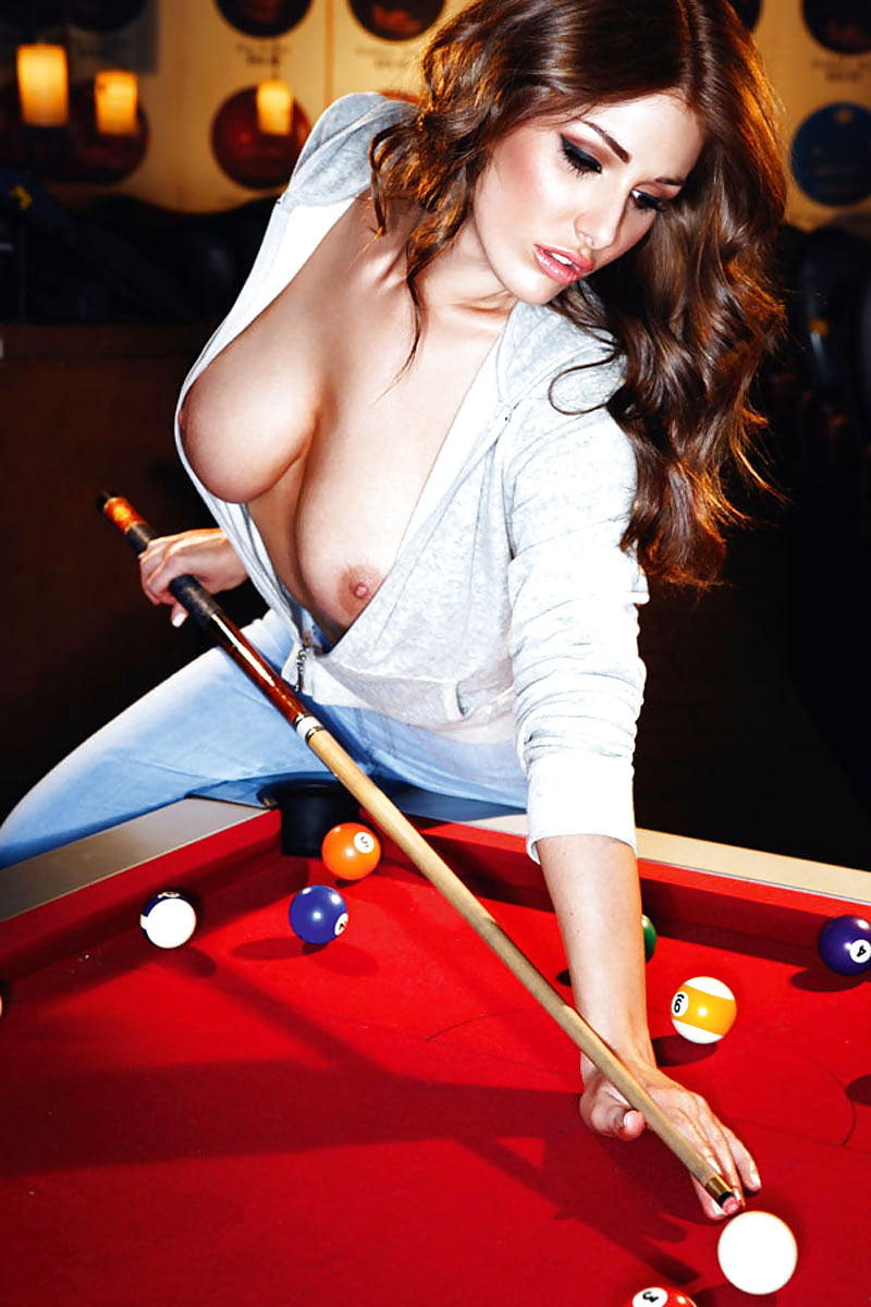 Sitting Naked On Pool Table